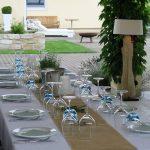 Tischdekoration Sommerfest